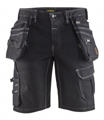 Blaklader 1992 Craftsman Work Shorts CORDURA® Denim Stretch X1900 (Black)